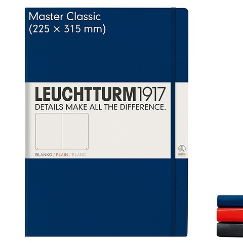 Notebook Master Classic (A4+), Hardcover, 233 numbered pages