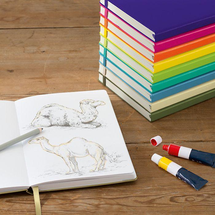 Sketchbook Pocket (A6), Hardcover, 96 pages (180 g/qm), Berry