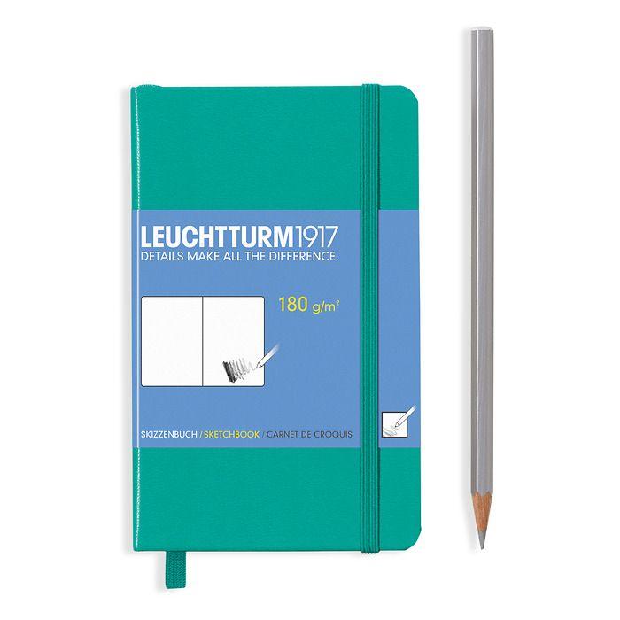 Sketchbook Pocket (A6), Hardcover, 96 pages (180 g/qm), Emerald
