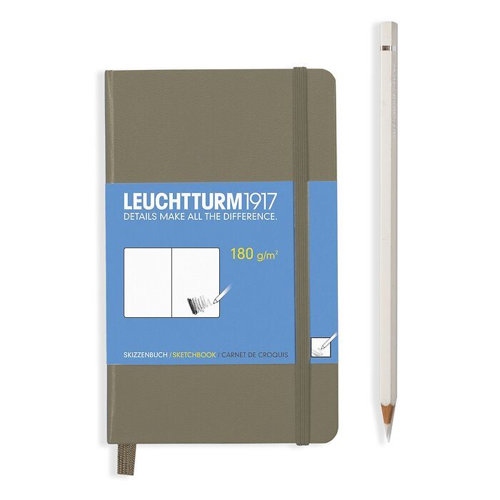 Sketchbook Pocket (A6), Hardcover, 96 pages (180 g/qm), Army