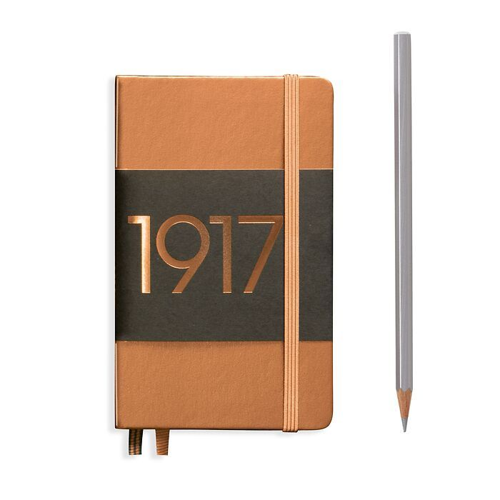 Notebook Pocket (A6), Hardcover, 187 numbered pages, Copper, ruled