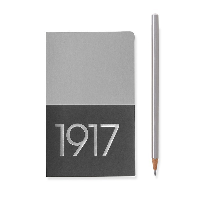 Jottbook Pocket (A6), 60 numbered pages, plain, Silver, pack of 2