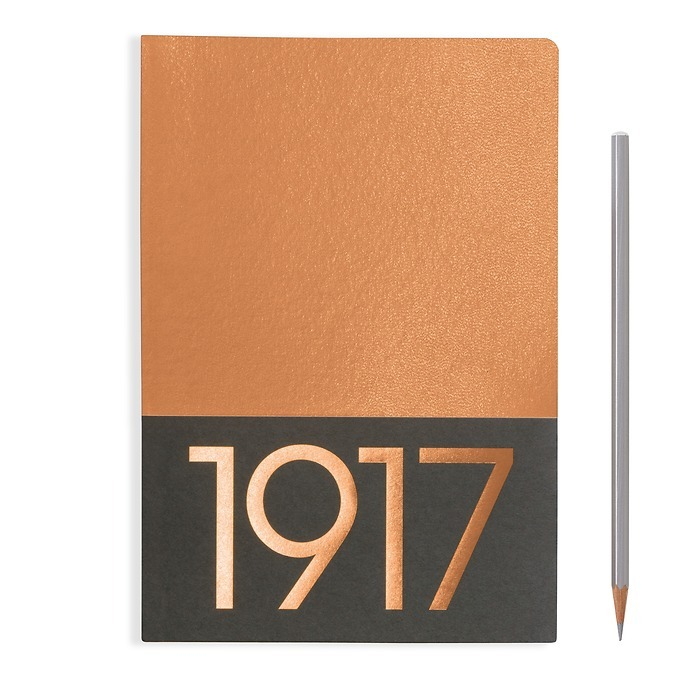 Jottbook Medium (A5), 60 numbered pages, ruled, Copper, pack of 2