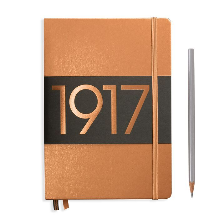 Notebook Medium (A5), Hardcover, 251 numbered pages, Copper, dotted
