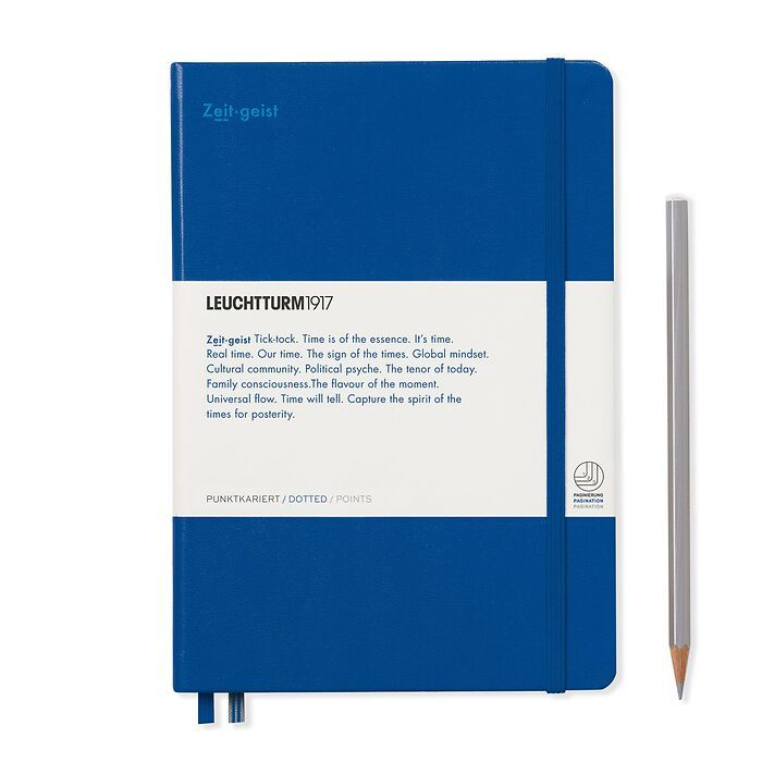 Notebook Medium (A5), Hardcover, 251 num. p. Royal Blue, dotted - Leuchtkraft (Zeitgeist)