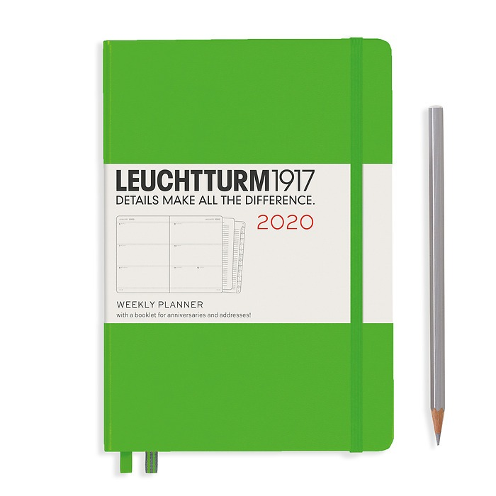 Weekly Planner Medium (A5) 2020, with booklet, Fresh Green, English