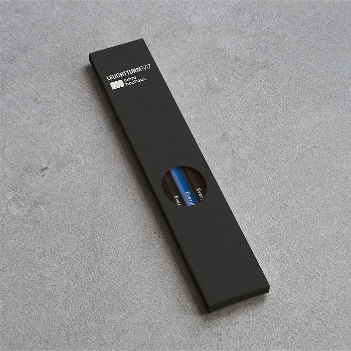Pencil HB, LEUCHTTURM1917, assorted, 100 Jahre Bauhaus: 4x Black, 1x Royal Blue