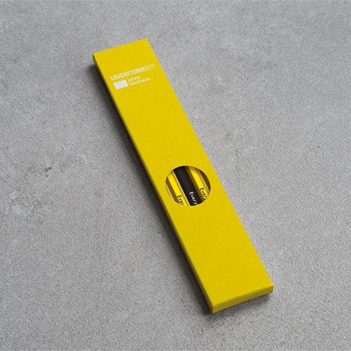 Pencil HB, LEUCHTTURM1917, assorted, 100 Jahre Bauhaus: 4x Lemon, 1x Black