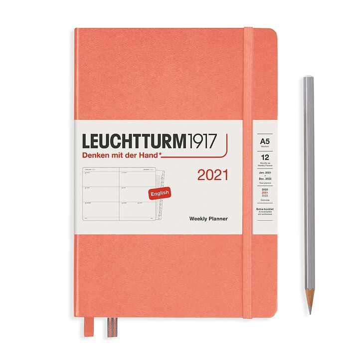 Weekly Planner Medium (A5) 2021, with booklet, Bellini, English