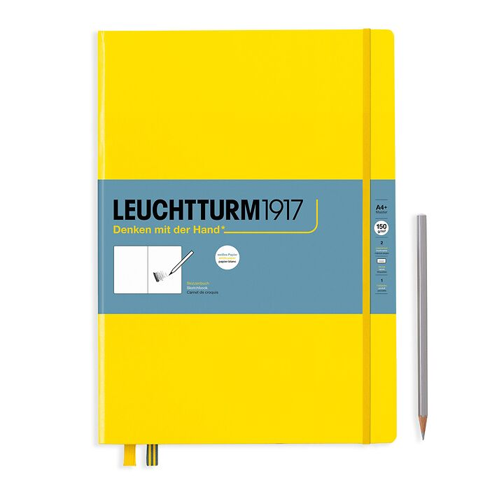 Sketchbook Master (A4+), Hardcover, 112 pages (150 g/sqm), plain, Lemon