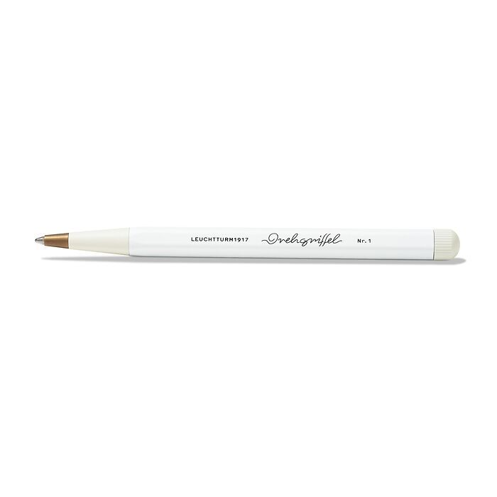 Drehgriffel Nr. 1, White - Ballpoint pen with royal blue ink