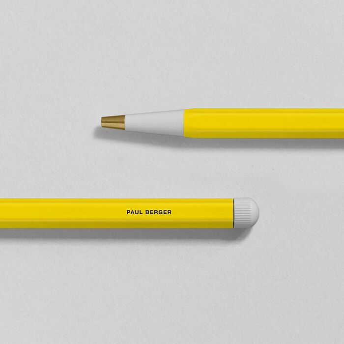 Drehgriffel Nr. 1, Lemon - Ballpoint pen with royal blue ink