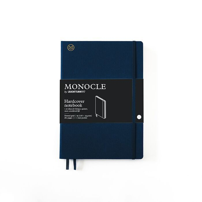 Notebook B5 Monocle, Hardcover, 192 numbered pages, Navy, dotted