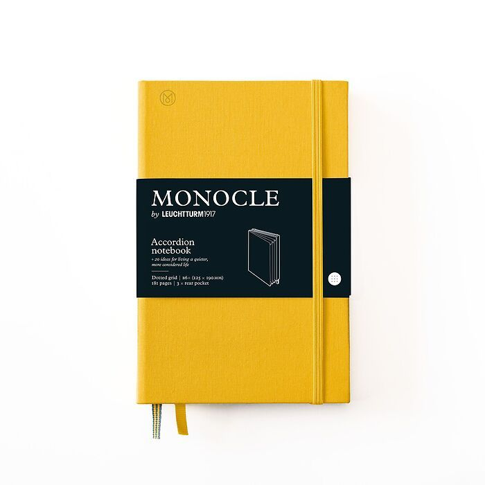 Monocle Wallet B6+, Hardcover, 192 numbered pages, Yellow, dotted