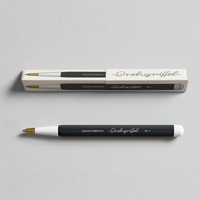 Drehgriffel Nr. 1, Black - Gelpen with black ink