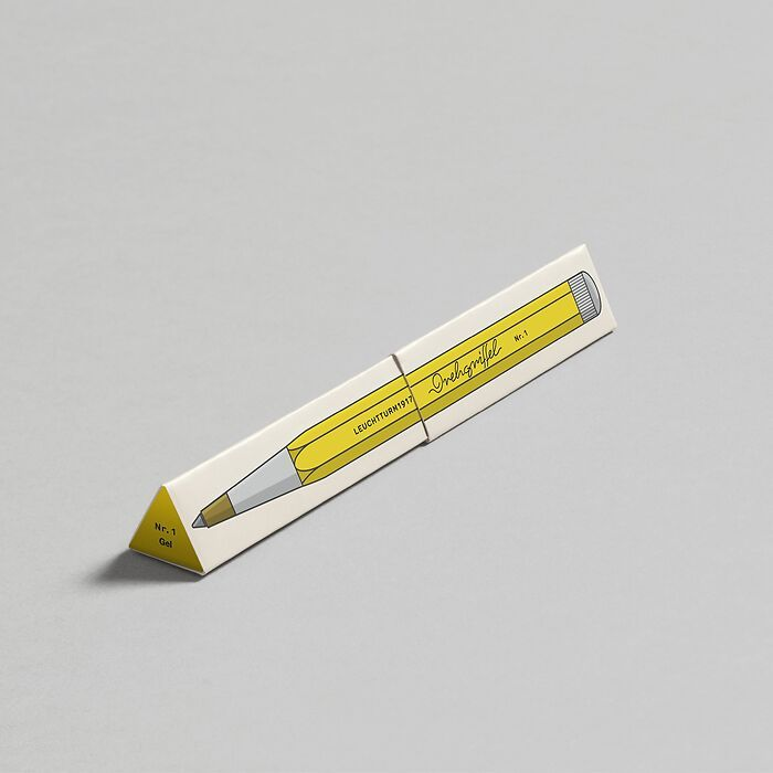 Drehgriffel Nr. 1, Lemon - Gelpen with black ink