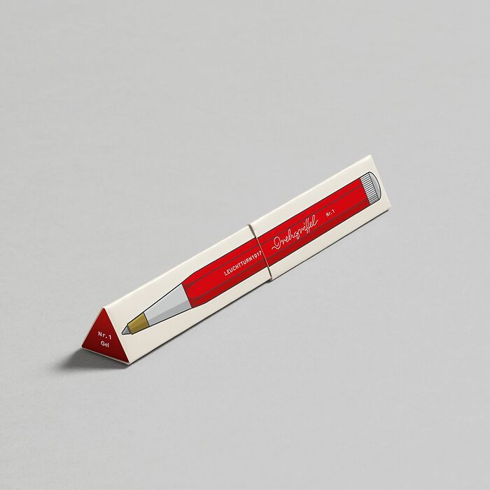 Drehgriffel Nr. 1, Red - Gelpen with black ink