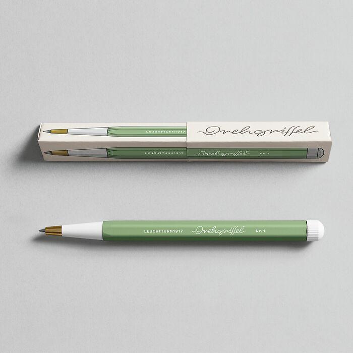 Drehgriffel Nr. 1, Sage - Gelpen with black ink