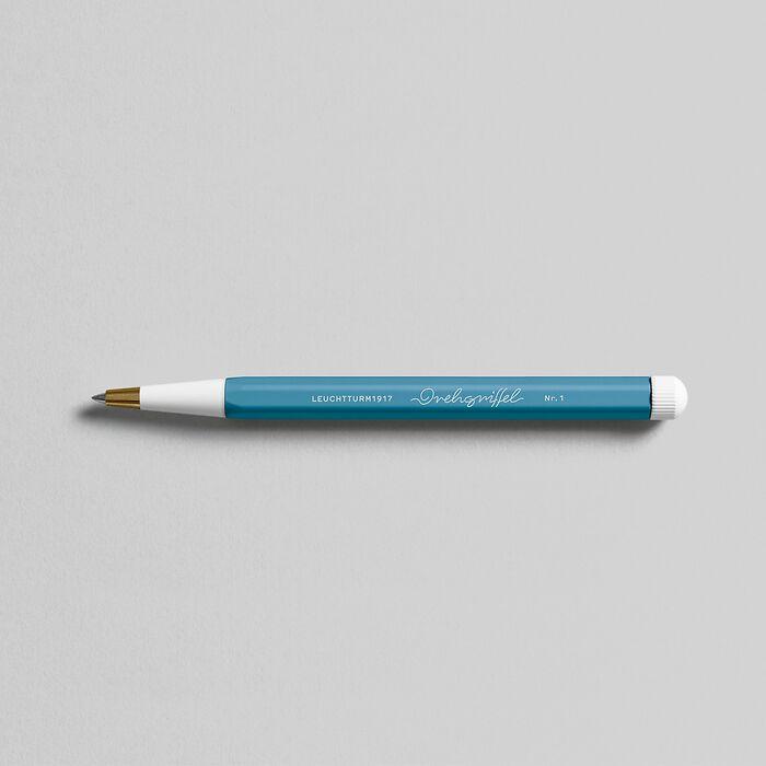 Drehgriffel Nr. 1, Nordic Blue - Gelpen with black ink