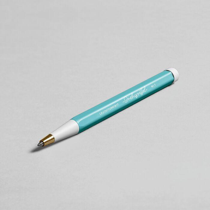 Drehgriffel Nr. 1, Aquamarine - Gelpen with black ink