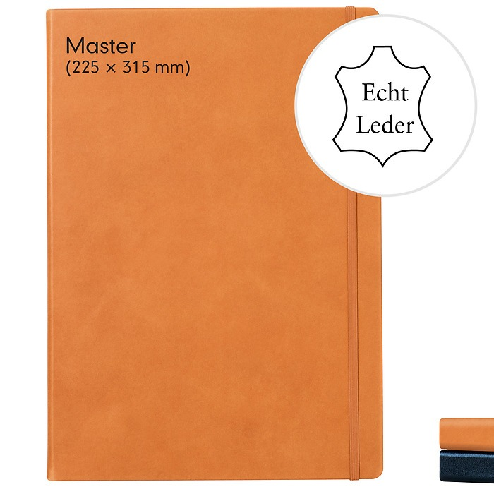Notebook Master Classic (A4+), Leather, 233 numbered pages