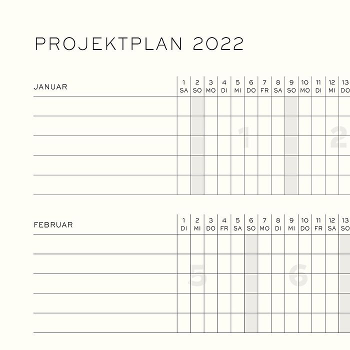 Week Planner, German
