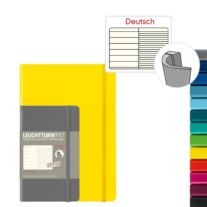 Weekly Planner & Notebook 2020 - Softcover - German